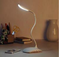 art deco paintings sale - Hot sale LED bulbs white light desk lamp flexional rechangeable touch sensor fashion table light best novelty gift reading