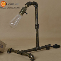 Cheap Wholesale-bronze Water pipe vintage desk lamps,To decorate the study The best choice for the bedroom