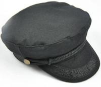 Wholesale women s cotton military navy cap cute lace decoration cadet caps female casual flat captain hat