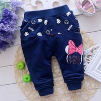 babi fashion - Fashion Autumn Spring Baby Kids Children Girls Cartoon Cute Babi Knitting Long Pants Full Length Trousers S1938
