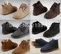 Wholesale Australian Original brand men s snow boots Sheepskin fur Fashion boots for men mens Neumel shoes size EU39