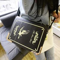 hard cover book - Book shaped lolita bag Japan Harajuku Gothic Lolita women s handbag Vintage Printing Magic Shoulder Messenger Bag Satchel sac