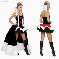 Wholesale New Arrival Queen of Hearts Halloween costumes for women party Costume sexy Party Dress Cosplay