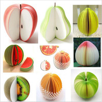 Wholesale Fruit Note Memo Pads Portable Scratch Paper Notepads Post Sticky