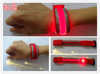 band lighting equipment - New LED light reflective wrist band bracelet flash bracelet fiber reflective belts running equipment