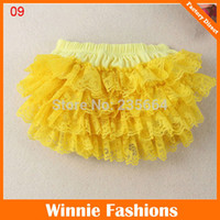 diapers for kids - Baby Lace Bloomer Solid Color Ruffles Diaper Pants For Kids Retail