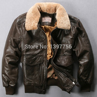 air ribs - Fall AVIREX Men s comfortable genuine Leather Jacket Air Force clothing motorcycles Real Sheepskin Coat
