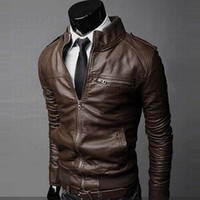 Wholesale Fall Short Clothing Length PU Leather Rider Style Jacket Top Quality Pilot Leather Jacket Men Zipper Decor Jaqueta De Couro Masculino