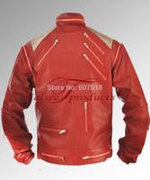 beat it jacket - Fall Rare Classic MJ MICHAEL JACKSON CUSTOM Classic Beat It MV Red Zipper Jacket