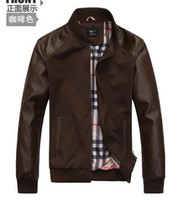 Wholesale Fall jackets and coats New Men leather jacket male Leather Jacket mens leather Casual Wear Top quality COATS