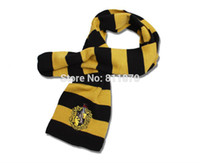 badger scarf - NEW Harry Potter Cosplay Hufflepuff Badger School Accessories Scarf for party and halloween