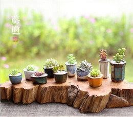 Wholesale vintage classic style pottery small vase plant bonsai mini flower pot europe style ceremic flower tub