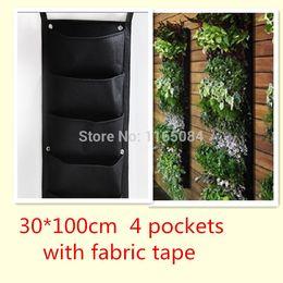 bolsillos vertical jardn jardinera montadas en la pared polister cultivar un huerto casero de la flor bolsas de wall planter con cinta