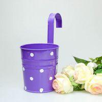 big planter pots - Big Size cm pure garden bucket tin box Iron pots flower metal Hanging Planter
