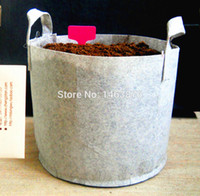 Wholesale Flowers Vegetable Planting Bag Non Woven Seedling Bag Planting green bag Root Control bag plant pot