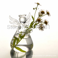 best powder coating - Handmade Transparent Glass Angel Flower Pot Best Gift For Christmas Day Valentine s day