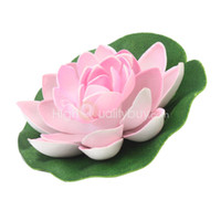 artificial pond plants - Artificial Pink Lotus Water Floating Flower Garden Pool Pond Plants Ornament