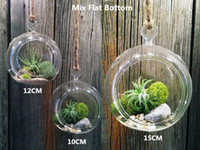 Wholesale Dozen cm cm airplant orb hanging glass terrariums garden decor wedding decor
