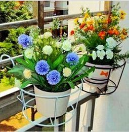 Wholesale pieces The balcony gardening equipment wrought iron baluster hanging flower gardening Flower pot hanging planter