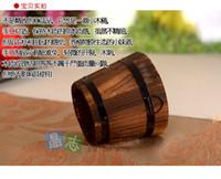 artificial preservatives - Carbonized wood preservative largemouth wood planting flower barrels wooden flower pots home decoration