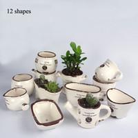 antique porcelain pots - shapes ceramic flower pot vintage antique porcelain Chinese desktop ceramic plant pots
