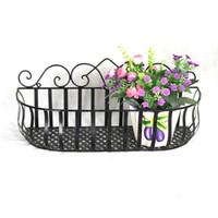 iron fence - Panacea Flat Iron Flower Pot Wall Hanging Lined Window Deck Planter Black Fence