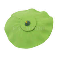 Wholesale Artificial Floating Pink Lotus with Green Leaf Aquarium Fish Tank Pond Decor