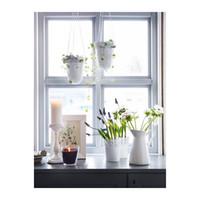 Wholesale piece white color galvanized steel decorative plant pot