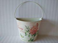 balcony flower boxes - wall mounted garden bucket tin box Iron pots flower pots planters Balcony flower pot wall hanging tub
