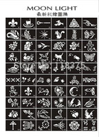 Wholesale USA Dispatch Glitter Tattoo Stencil mixed Design For Body Art Painting for glitter tattoo kits supplies