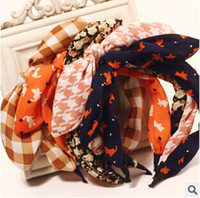 Cheap Wholesale-2015 New Fashion Style Hairbands Flower Dot Stripe Hair Accessories For Women