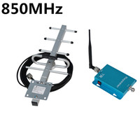 Cheap Wholesale-Wholesale 850MHz GSM Repeater Booster Mobile Phone Power Amplifier with 9dBi 10 meters Cable Yagi Antenna