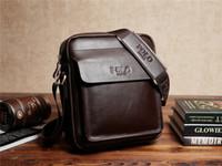Wholesale New Hot Genuine Leather men bags men s briefcase vintage men Messenger bag Shoulder Bag cowhide leather bags Free