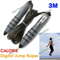 Wholesale Digital Jump Skipping Crossfit Sport Jumping Rope m with Timer Calorie Counter Clock Fat Function Free dropshipping