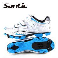 Zapatos Zapatos mayor-Santic profesionales ligeros respirables de bicicletas Bike Deportes Hombres Mountain Bike Cycling Shoes MTB autoblocante