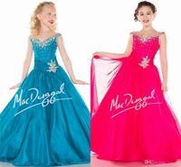 Cheap 2015 Little Girls Pageant Dresses V Neck Sweep Train Ball Gown Bead Crystal Flower Girl Dress Toddler Teens Gown BG50655