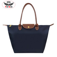 Cheap Wholesale-Nylon Women Handbags Tote Designer Female Casual Bags Waterproof Lady Shoulder Bags Dumpling Bag Fold Shopping Bag Bolsa Sac Hot