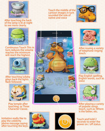 Wholesale English Smart Touch Screen Phone Toys Light Projection Ringtones Volume Adjust Lullaby Story Music Drum Pop Songs Animal Voice