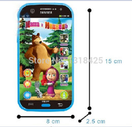 Wholesale-Baby Mobile Phone Toy Russian Language Learning Machines Talking Masha And Bear Learning&Education Electronic Plastic Juguetes