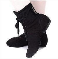 Wholesale Hot Sale Canvas Dance Boots Lace Up Split Soles Sports Sneakers Shoes Jazz Shoes Hip Hop Shoes Modern Dance Shoes
