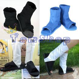 Wholesale-Naruto Shippuuden Uzumaki Uchiha Sasuke Hatake Kakashi Akatsuki Hidan Itachi Madara Cosplay Costume Shoes Boots 4 Styles