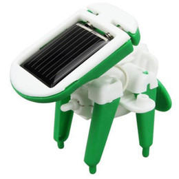 Wholesale-HOOT DIY 6 IN 1 Educational Learning Power Solar Robot Kit Children Kids Toy