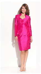 Wholesale Hot Test Buttons Hot Pinks Girls pageant Two Pieces Jacket and Skirt Grown Ball State National Beauty Interview Suits Big Girls Ladies Fo