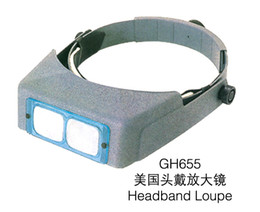 Wholesale New GH655 Head Wearing Magnifier For Jewelry Tools Head Magnifier Jewellers Lense high quality factory price