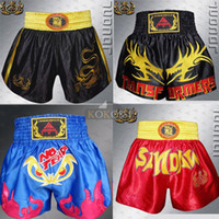Wholesale New Upgrade Mens MMA Muay thai shorts Boxing shorts Sanda Shorts Combat Pants Shorts Multiple Style Boxeo
