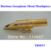 baritone saxophone mouthpieces - retail pure brass quality guarantee Eb Gold Plated open and bright baritone saxophone metal mouthpiece