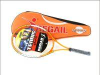 tennis racquets - Regail Sports Tennis Racket Aluminum Alloy Adult Racquet with Racquet Bag for Beginners Orange Color