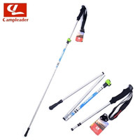 aluminium light poles - Ultra light fine Aluminium alloy Fold Telescopic Hiking Walking stick Trekking pole canes Alpenstocks stick