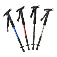aluminum alloy crutches - Ultra Light Adjustable Aluminum Alloy Hiking Climbing Walking Sticks Poles Retractable Trekking Anti Shock Walking Crutches