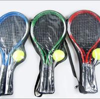Wholesale Hot Pair Aluminum Alloy Tennis Racket Children Racket raquete de tennis sport Training Tennis Racquet With Bag and String